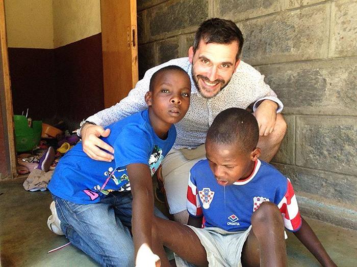 prof. Tonći Maleš iz Privatne klasične gimnazije u Zagrebu posjetio je Mali dom u Keniji